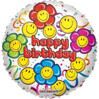 Smiley Flower Faces Balloon - Bunches Gifts