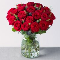 24 Luxury Red Roses - Bunches Gifts