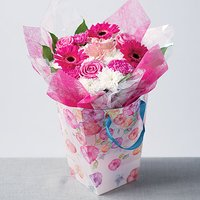 Simply Pink Gift Bag - Flowers Gifts