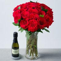 24 Red Roses and Prosecco - Bunches Gifts