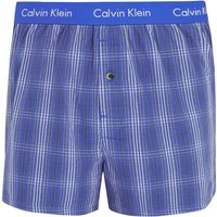 Calvin Klein Slim Fit Black Plaid Boxer