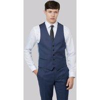 DKNY Slim Fit Blue Pinhead Waistcoat