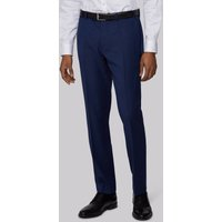 DKNY Slim Fit Blue Texture Trousers