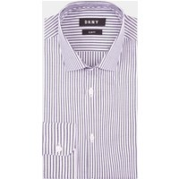 DKNY Slim Fit Navy Single Cuff Stripe Shirt