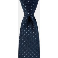 DKNY Navy Geometric Spot Tie