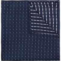 DKNY Navy Geometric Spot Print Pocket Square