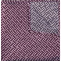 DKNY Purple Retro Geometric Print Pocket Square