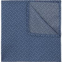 DKNY Blue Retro Geometric Print Pocket Square