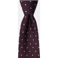 DKNY Burgundy Textured With White Dot Tie
