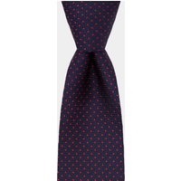 DKNY Navy With Red Pindot Tie