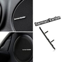 4Pcs harman/kardon Hi-Fi Speaker audio Speaker 3D Aluminum Badge Emblem stereo with 2 pins 43x5mm