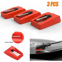 3Pcs Diamond Replacement Stylus Record Player Needle For LP Turntable vinyl player Phonograph Records Gramophone Accessories
