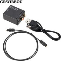 Grwibeou Digital to Analog Audio Converter Optical Fiber Toslink Coaxial Signal to RCA R/L Audio Decoder SPDIF ATV DAC Amplifier