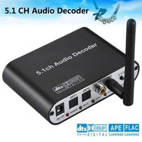 Digital 5.1 EU Audio Decoder Dolby Dts/Ac-3 Optical To 5.1-Channel RCA Analog Converter Sound Audio Adapter Amplifier Converter