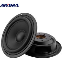 AIYIMA 2 Pcs 4 5 6.5 Inch Woofer Audio Speaker Passive Radiator Booster Bass Vibration Plate Vibrating Speaker Accessories Parts