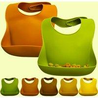 Cute Baby Bibs Waterproof Soft Silicone Baby Feeding Stuff Kids Girl Boy Adjustable Children Bib Best Gift