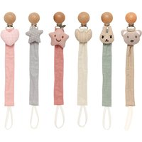 Baby Pacifier Clip Infant Newborn Cotton Wooden Pacifier Chain Nipple Soother Dummy Holder Eco-friendly Material