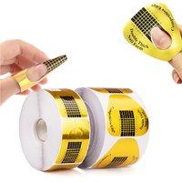 Ahier Nail Forms 500 PCS, Nail Extension Tips, Acrylic Nail/UV Gel Nail Extension Forms Stickers