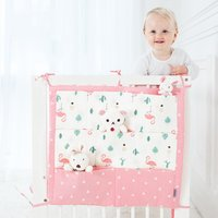 Baby Crib Organizer Hanging Bag Baby Bedside Buggy Bag Infant Bedding Newborn Bed Decorate Diaper Toy Tissue Commodity Shelf