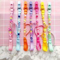 Pacifier Clips Handmade Holder Chain Silicone Pacifier Chains 5 Star Baby Teether Teething Chain Baby Gifts Girls Boys Chains