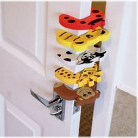 Baby Child Proofing Door Stoppers Lock Finger Safety Holder Lock Guard Noise Prevention Lock Cartoon Animals Security 1 Pcs