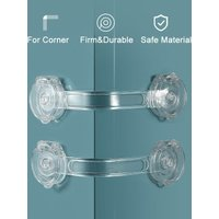 5PCS Baby Safety Lock Drawer Home Child Protection Cabinet Door Refrigerator Lock Buckle Anti-pinch Kids Safety Locker