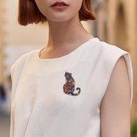 Hot Sale Fashion Animal Brooch Women Wild Heat Transfer Series Cat Crooch Brooch Female Children Clothes Accessories