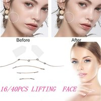 16/40 Pcs Set Neck Woman Thin Face Stickers Invisible V-Shape Skin Sagging SkinFace Lift Up Fast Chin Adhesive Tape