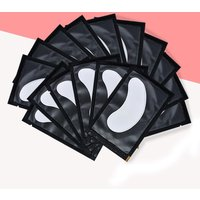 100Pairs Lint Free Under Eye Gel Pads Hydrating Eye Paper Patches Grafted Eyelashes Extension Eye Tips Sticker Wraps Makeup Tool