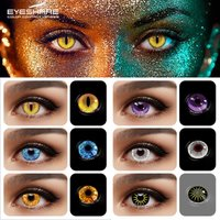 EYESHARE Color Contact Lenses For Eyes 2pcs Anime Cosplay Colored Lenses Blue Red Halloween Lenses Contact Lens Beauty Makeup