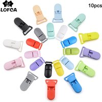 LOFCA 10pcs Baby Pacifier Clips 15/20mm Nipple Plastic Clasp Infant Nipples Multi Color Clamp DIY Baby Toy Jewelry Making