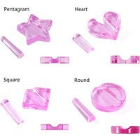 1Set Nail Art Star/Heart/Round/Square Metal Slice Heart Acrylic Bend Curve Making Model Pressed Mold Equipment Nail Art Tools