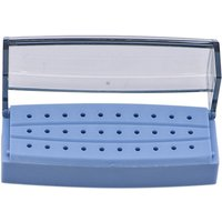 Dental Burs Drill Holder 30 Holes Plastic Bur Block Drill Placement Box Sterilizer Box Dentist Instrument Autoclave Disinfection