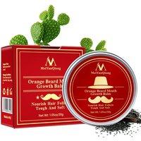 Men's Plant Dense Tough Beard Care Cream Moisturizing Smooth Promote Growth Lubrication Cream Beard Care Cream