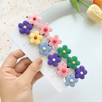 Korean Sweet Floral Hair Pin For Girls Cute Bb Clip Hair Accessories Toddlers Kids Hairpin Hair Styling Tools Barrettes