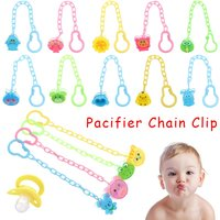 Pacifier Nipple chain Baby Infant Toddler Dummy Pacifier clip Spring Soother Nipple Clip Chain Holder Strap pacifier chain