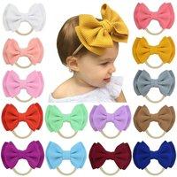 Infant Headband Toddler Big Knot Cute Solid Stretch Turban Big Bow Hairband Newborn Head Wear Baby Girl Boho