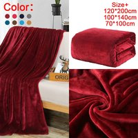 Bed Blanket Soft Flannel Blanket Single Queen King Warm Plaids for Beds mantas de cama Thow Blankets