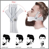 Rotating Beard Styling Comb Styling Tool For Men's Beard Styling Adjustable Different Angles Beard Comb Styling Ruler