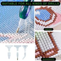 5D DIY Diamond Painting Tools Resin Square&Round Embroidery Cross Stitch Art Pen for DIY Craft Art Diamond Embroidery