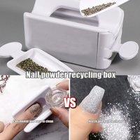 Nail Sequin Recycling Box Portable Mermaid Magic Mirror Powder Storage Case Glitter Organizer New PlasticTools TD61 1PCS