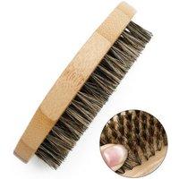 Men's Beard Brush Pig Bristle Brush Bamboo And Wood Beard Styling Brush Oval