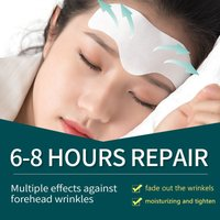 Forehead Patch Mask for Forehead Lines Women Forehead Wrinkle Patch Anti-crease Anti-aging Sleeping Mask Skin Care