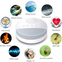 Baby Toy White Noise Machine With Night Light Timer And Memory Function Home Office Baby And Travel Portable Sleep Meter Therapy