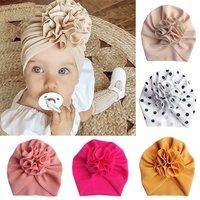 Cute Flower Baby Hat Toddler Turban Infant Head wraps Kids Bonnet Newborn Toddler Beanie Cap for 0-18m
