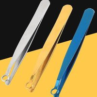 Universal Nose Hair Trimming Tweezers Stainless Steel Eyebrow Nose Hair Cut Manicure Facial Trimming Makeup Scissors