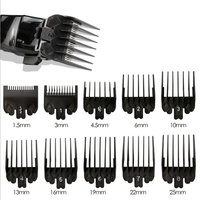 10PCS Hair Clipper Combs Guide Kit Hair Trimmer Guards 1.5/3/4.5/6/10/13/16/19/22/25mm Salon Tools