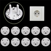 10pcs Baby Kids Child Safety Anti Electric Shock Plugs Protector Cover Bear EU Power Socket Electrical Outlet Guard Protection