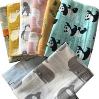 Hot New Baby Blankets Newborn Soft Organic Cotton Bamboo Baby Bibs Muslin Swaddle Wrap Feeding Burpy Towel Scarf Big Diaper