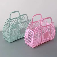 Plastic portable bath basket plastic sundry wash basket soft basket